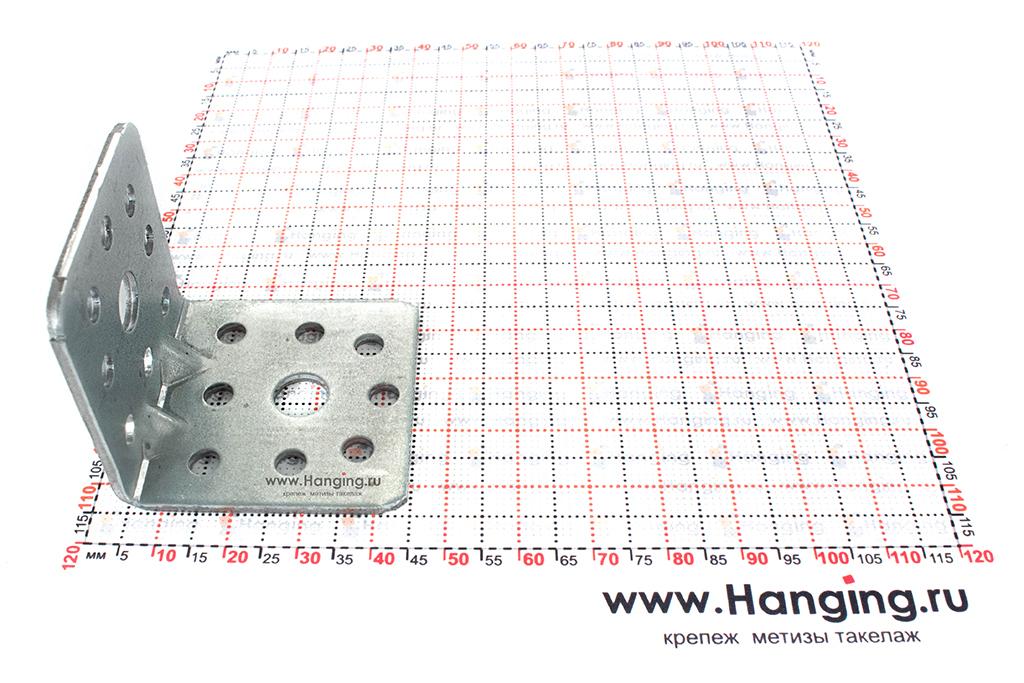 Размеры сторон уголка крепежного усиленного 40х40х40х2