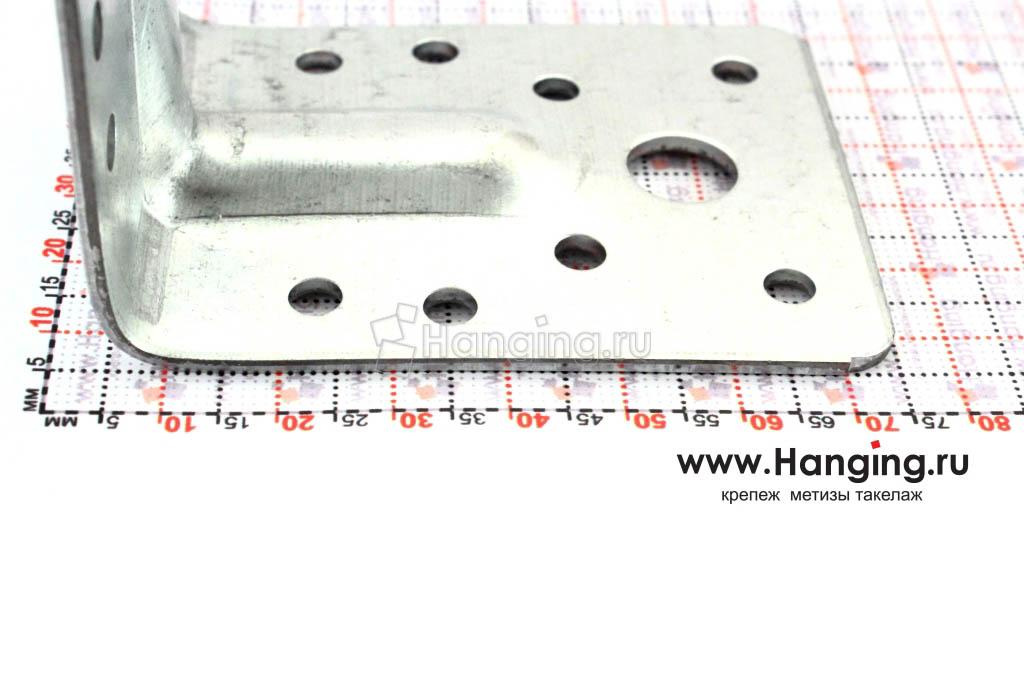 Размеры сторон уголка крепежного усиленного 70х70х55