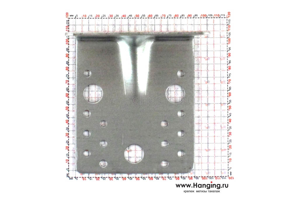 Размеры отверстий усиленного уголка 105х105х90