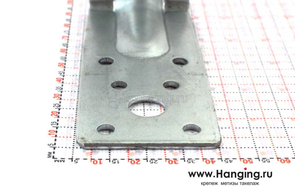 Размеры сторон уголка крепежного усиленного 90х90х40