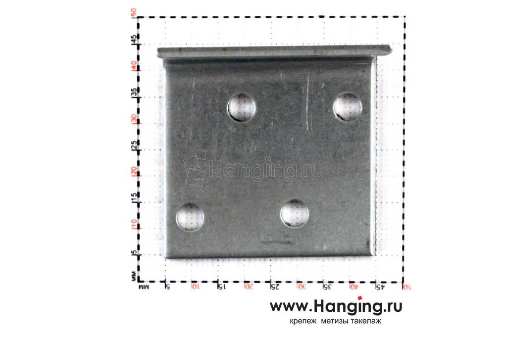 Размеры отверстий крепежного уголка 40х40х40х2