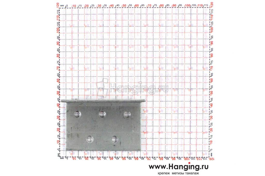 Размеры отверстий крепежного уголка 40х40х60х2