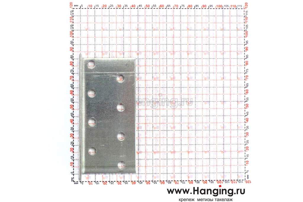 Размеры отверстий крепежного уголка 40х40х80х2