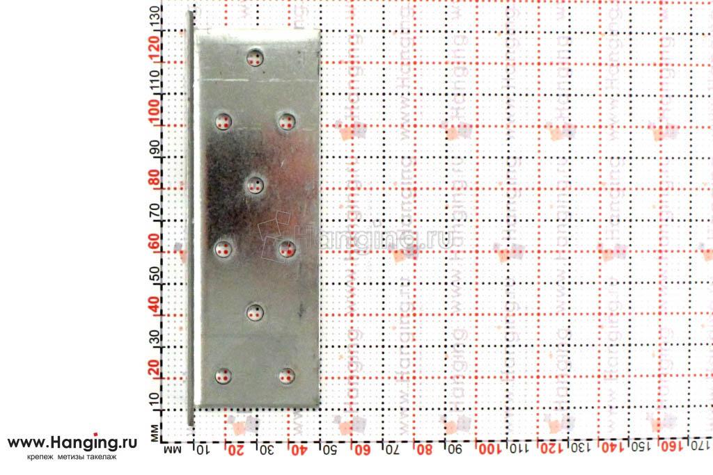 Размеры отверстий крепежного уголка 40х40х120х2