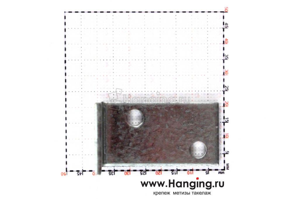 Размеры отверстий крепежного уголка 40х40х20х2