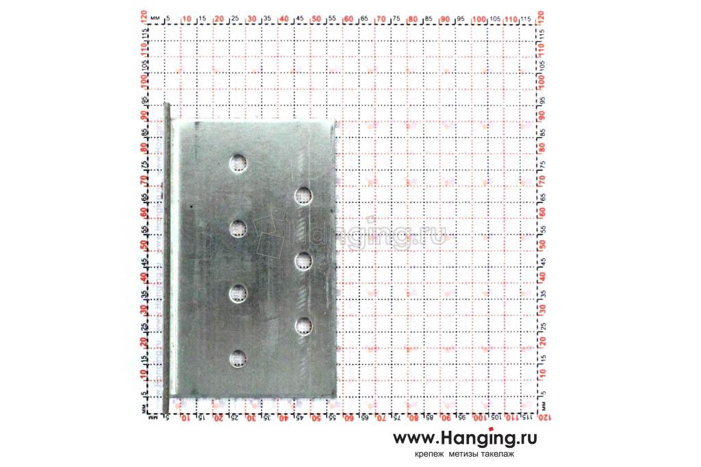 Размеры отверстий крепежного уголка 50х50х80х2