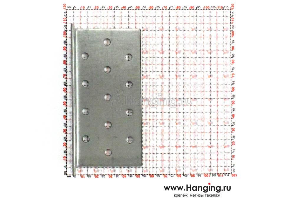 Размеры отверстий крепежного уголка 50х50х100х2
