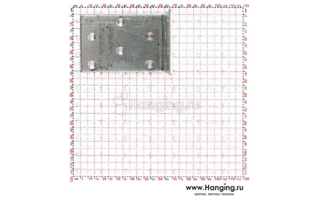 Размеры отверстий крепежного уголка 60х60х40х2
