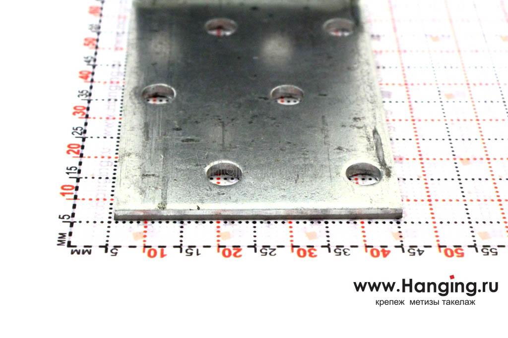 Размеры сторон уголка перфорированного 60х60х40