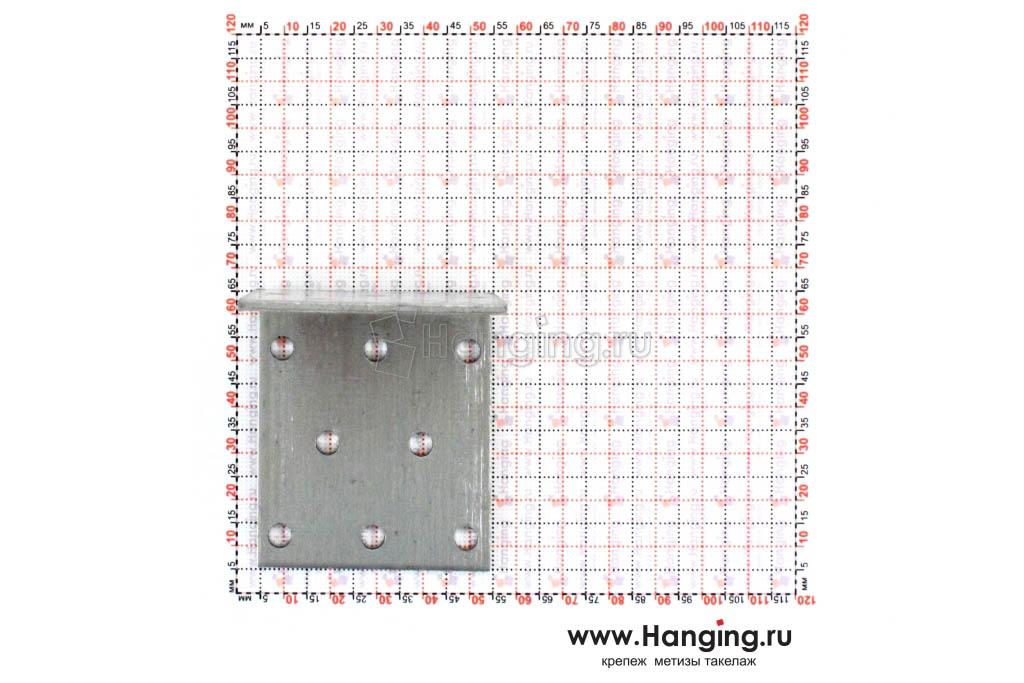 Размеры отверстий крепежного уголка 60х60х50х2