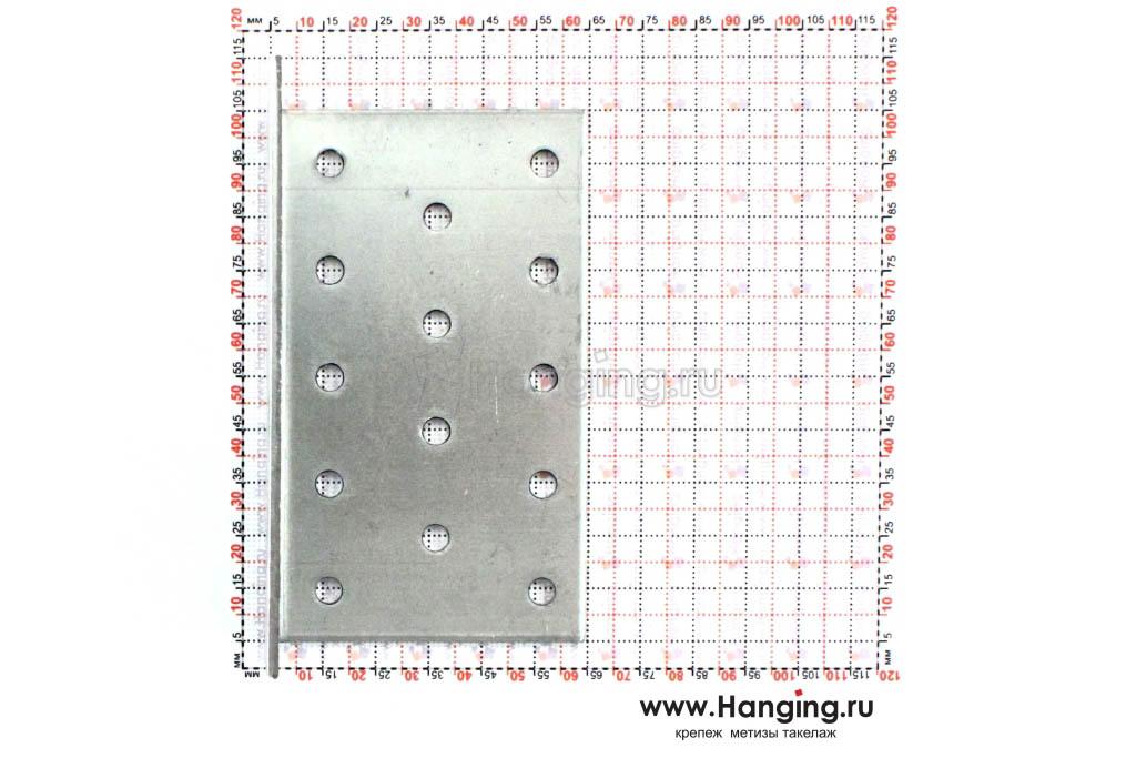 Размеры отверстий крепежного уголка 60х60х100х2