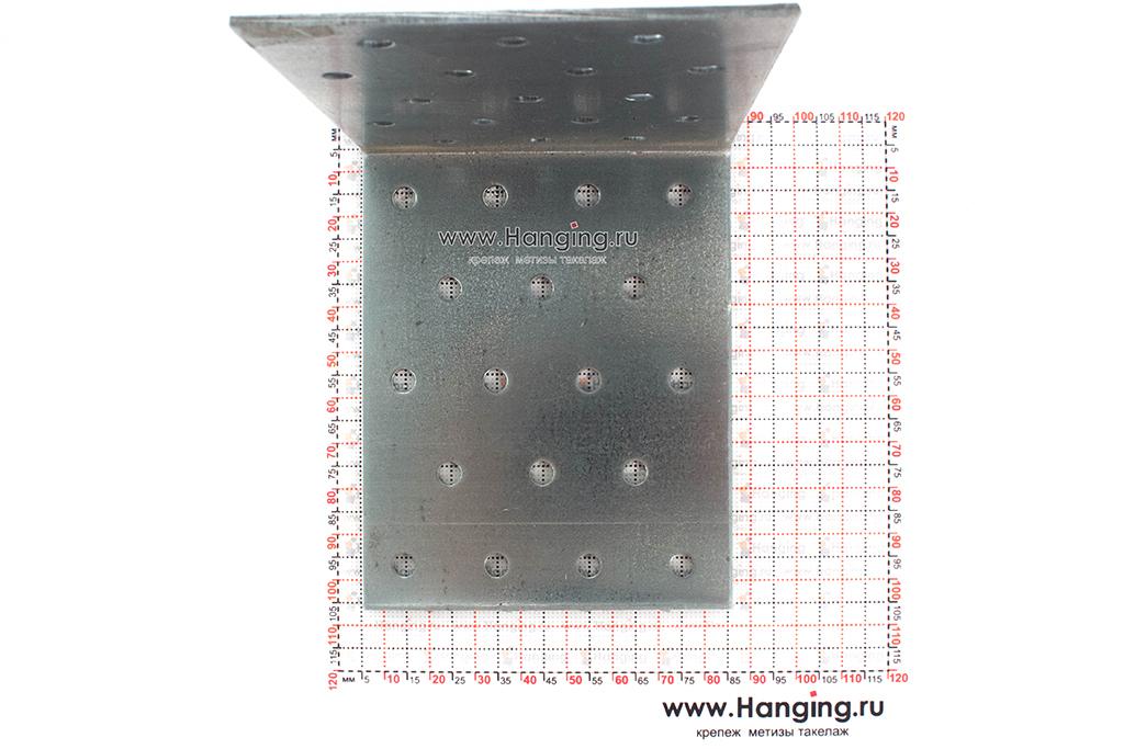 Размеры отверстий крепежного уголка 100х100х80х2