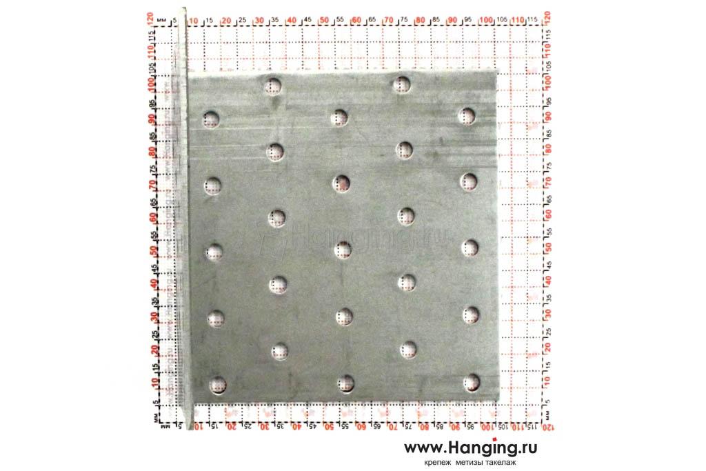 Размеры отверстий крепежного уголка 100х100х100х2