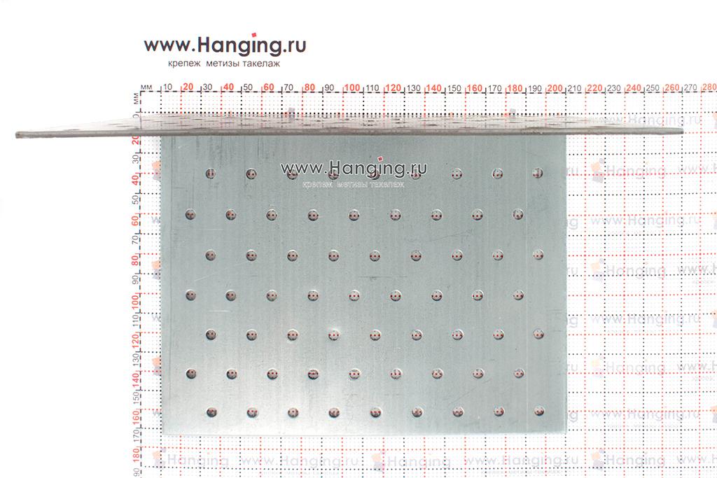Отверстия и размеры равностороннего уголка 160х160х200х2