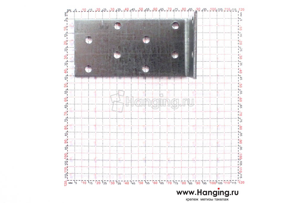 Уголок с разными сторонами 80х40х40 размеры