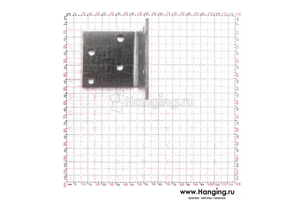 Размеры отверстий уголка неравностороннего 80х40х40