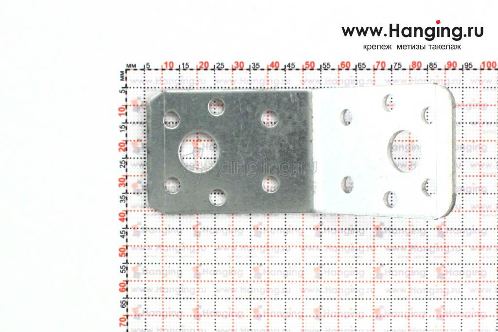 Размеры отверстий уголка 135 градусов 50х50х35x2