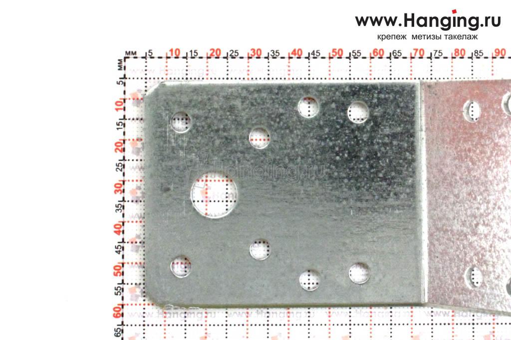 Размеры отверстий уголка 135 градусов 70х70х55х2