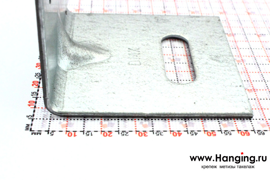 Размер сторон уголка скользящего крепежного 60*60*60*2