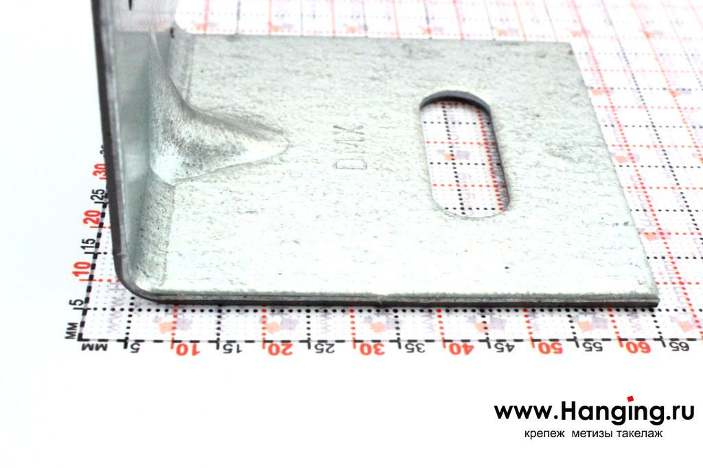 Фото усиленного уголка 80*80*80 толщиной 2 мм