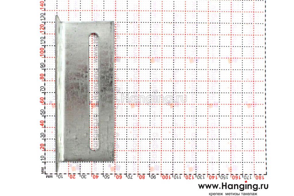 Размеры отверстий уголка крепежного скользящего 40х40х120х2
