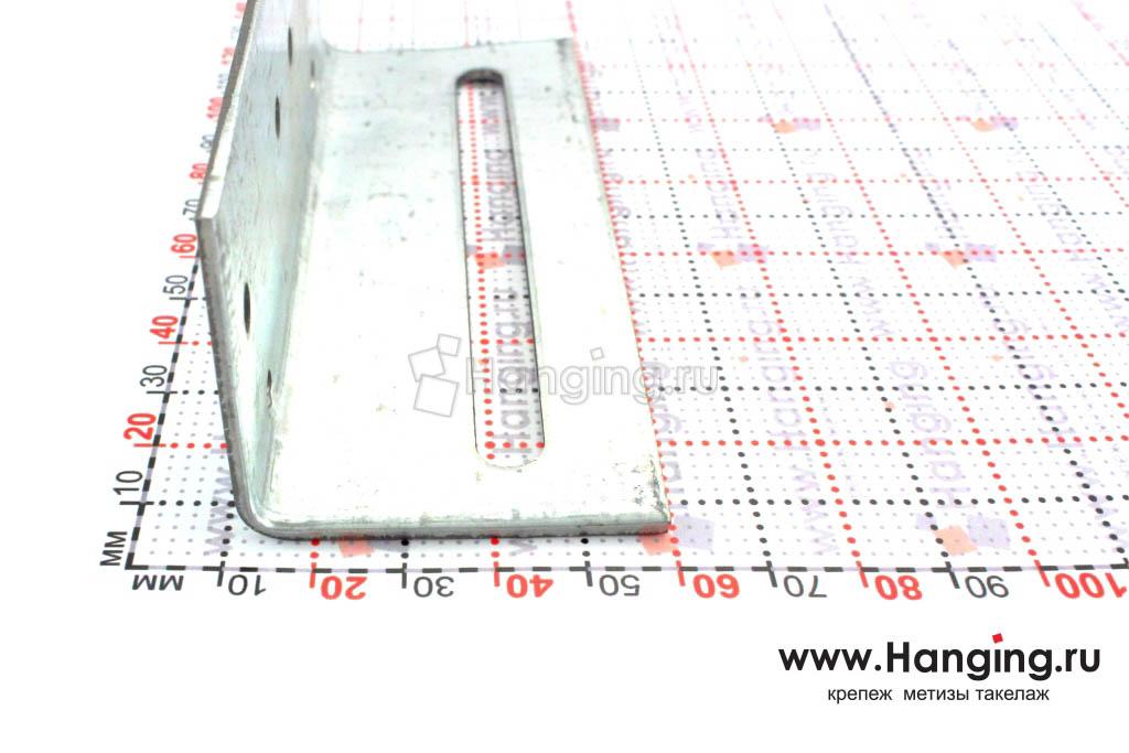 Уголок скользящий перфорированный 120х40х40х2 — стороны