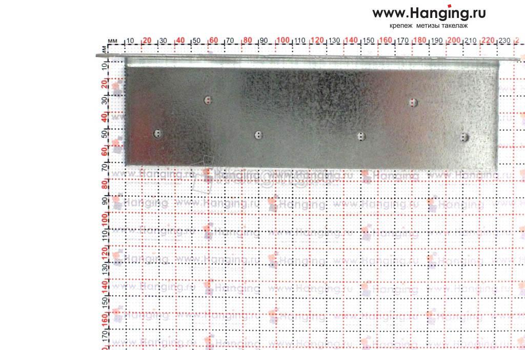 Размеры отверстий уголка крепежного скользящего 60х60х220х2