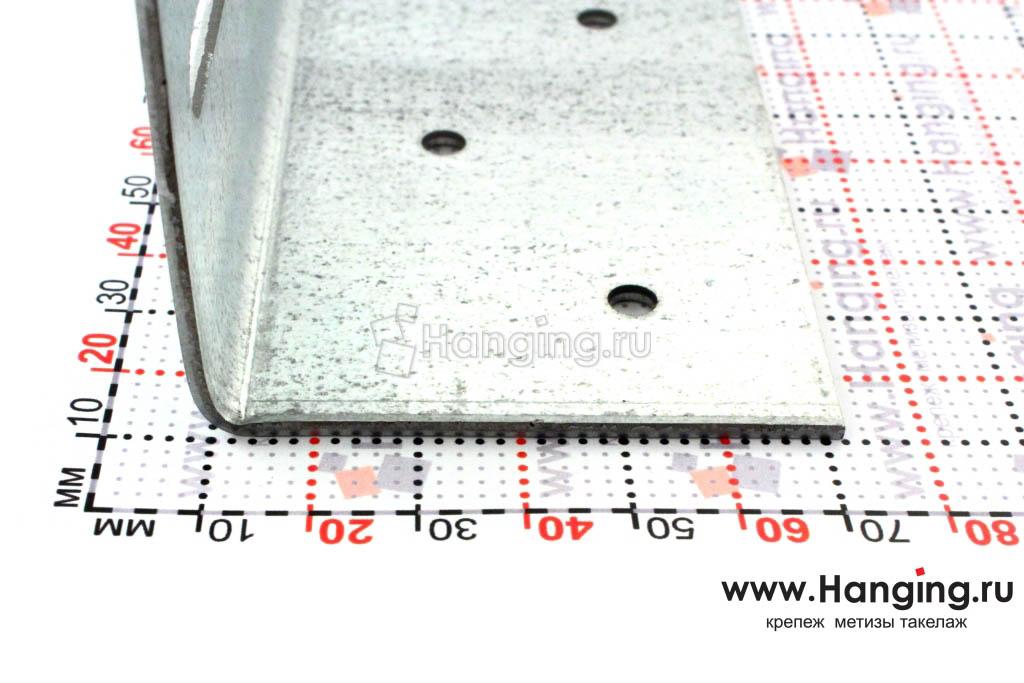Размер сторон уголка скользящего крепежного 220х60х60
