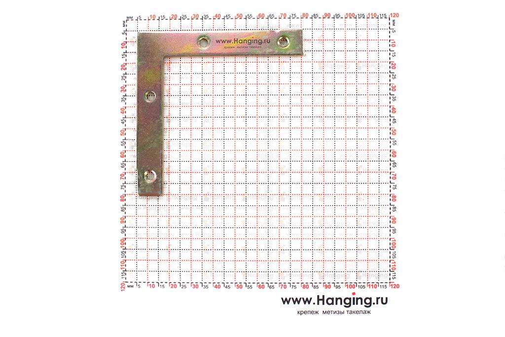 Размеры уголка на оконный проем 75х75х12х2