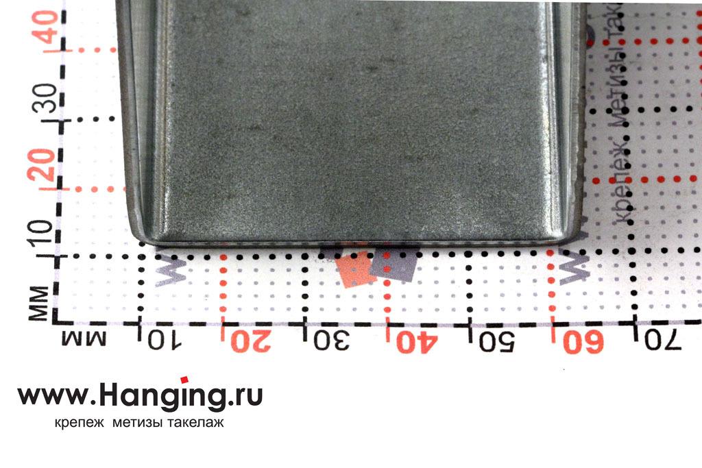 Ширина основания опоры под балку и брус шириной 50 мм. Высота опоры 105 мм.