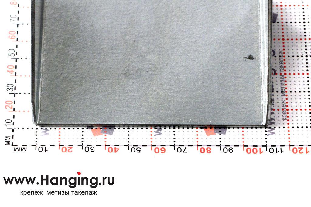 Глубина 76 мм опоры под брус шириной 100 мм