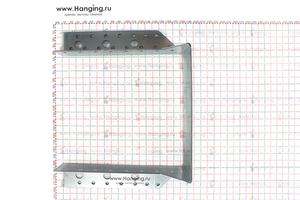 Размеры опоры бруса раскрытой 160х170