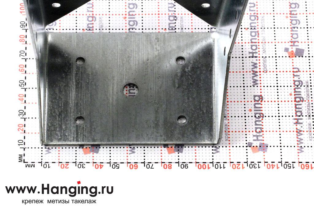 Закрытая опора под брус 100 мм высотой 140 мм