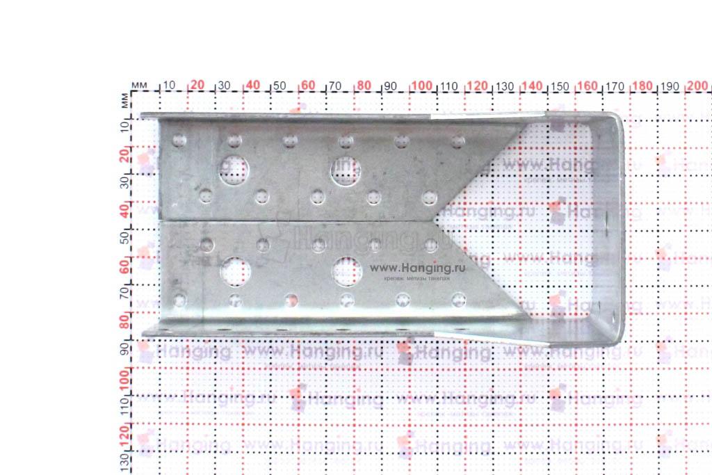 Опора под брус закрытая 75*150 мм