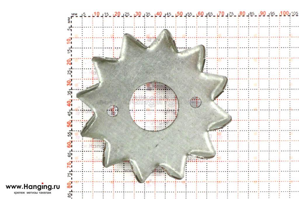 Размеры шипованного диска диска PZD 3 75х26х1,3