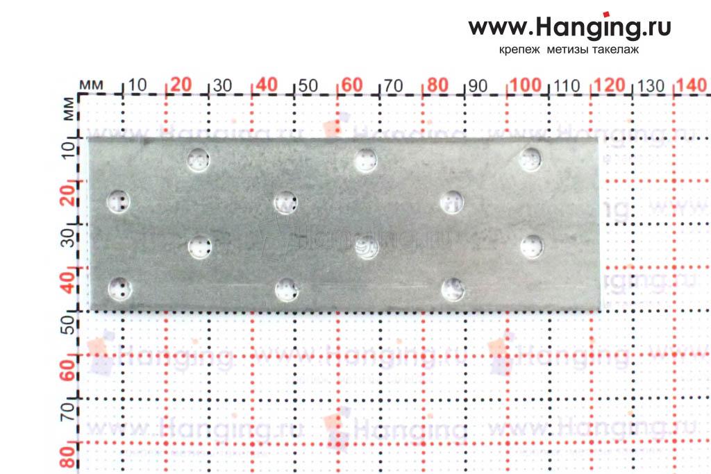 Размеры металлической стальной пластины 120*40*2