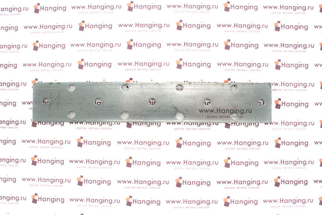 Перфорированная металлическая пластина 180х30х2