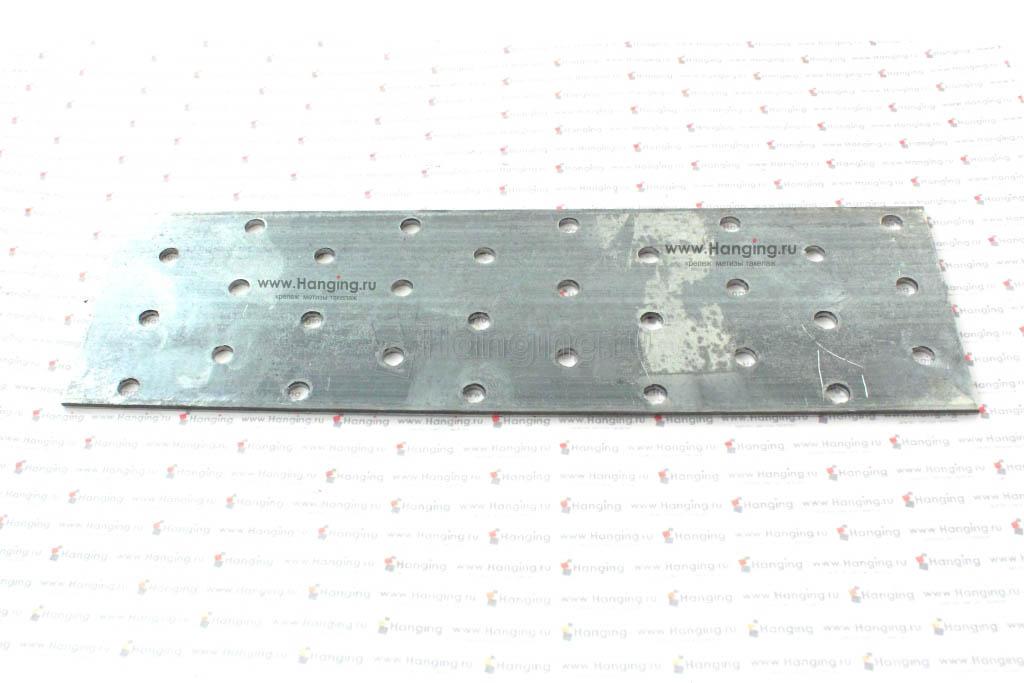 Пластина оцинкованная перфорированная 200х60х2