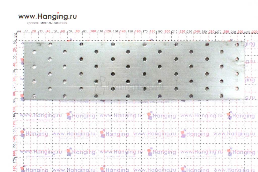 Размер перфорированной стальной пластины 80х300х2
