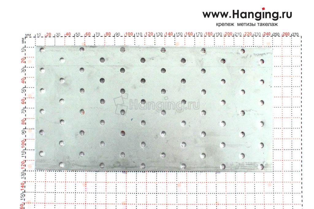 Металлическая крепежная пластина 120х240