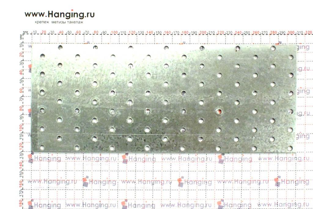 Крепежная перфорированная пластина 120х300, размеры
