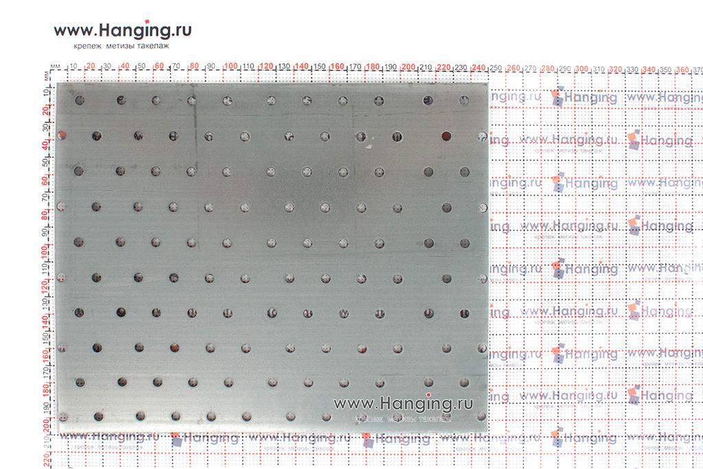 Размеры перфорированной металлической пластины 240х200х2