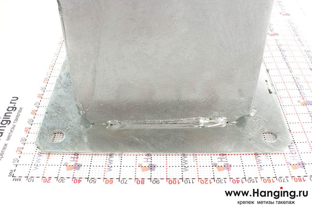 Размеры основания для квадратных столбов стакан 121 мм
