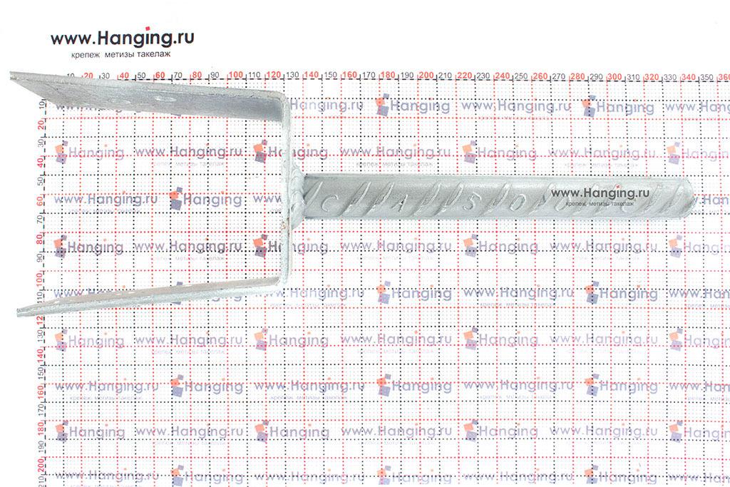 Размеры анкерного основания столба тип U 80 мм
