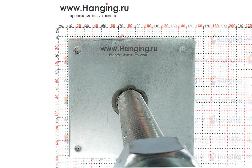 Размеры винтовой опоры М30 150х150/250