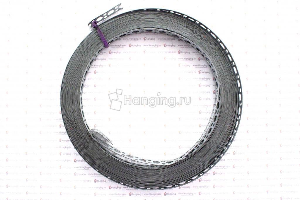Лента прямая перфорированная стальная 12*0,5 рулон 10 метров