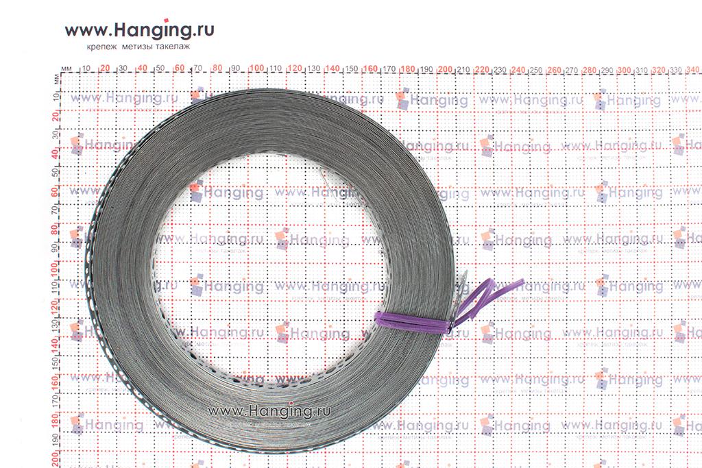 Размеры ленты оцинкованной перфорированной 12х0,5 25 метров