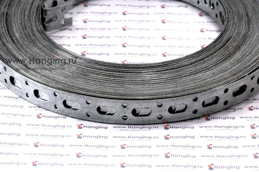 Лента стальная прямая перфорированная 17x0,7 (25 метров)