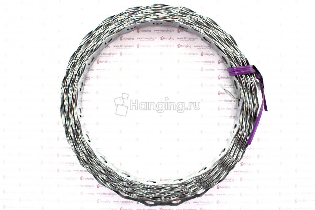 Оцинкованная лента с волнистой кромкой 10 метров 17 мм на 0,5 мм
