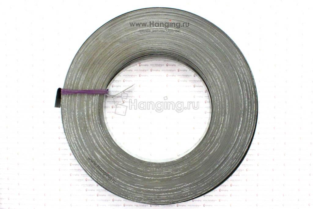 Стальная оцинкованная лента для упаковки 17х0,5 мм, рулон 50 метров